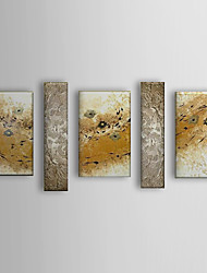 Hand Painted Oil Painting Abstract River with Stretched Frame Set of 5 1310-AB1225