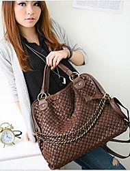 FEILIMEI Casual Elegant Knit Shoulder/Crossbody Bag(Coffee)