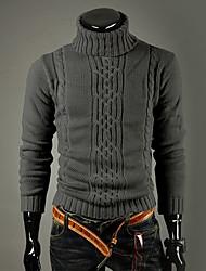 DAYD Irregular High Collar Lapel Sweater(Gray)