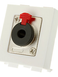High Quality Banana Binding Post Wall Plate for 4 Speaker Coupler Type