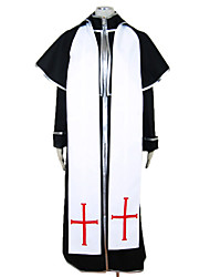 Vampire Trinity Blood Black Dress Men's Costume