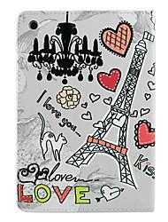 Eiffeltoren en harten patroon case voor de iPad mini 3, ipad mini 2, ipad mini