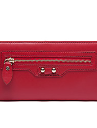 Love Match Women's Red Synthetic Leather Haulage Motor Series Wallet