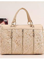 MIQIANLIN mode coréenne PU cuir dentelle sac d'épaule / Messenger Bag (amande)