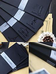 5 PCS Hot Stamping Black Envelope