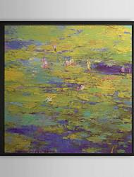 Водяные лилии Цветочные обрамленная картина маслом