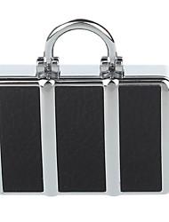 Shayu Sh-5210 USB ricaricabile antivento in lega di zinco accendino sigaretta elettronica (nero, argento)