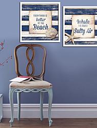Mots & Citations Toile Encadrée / Set de Cadres Wall Art,PVC Blanc Sans Passepartout Avec Cadre Wall Art