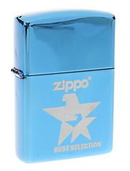 Zippo Blue Star Pattern Metal Windproof Oil Lighter