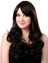 Capless Long Synthetic Black Curly Hair Wig Side Bang