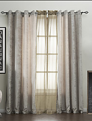 (Two Panels) Peaceful Energy Saving Curtain with Sheer Set