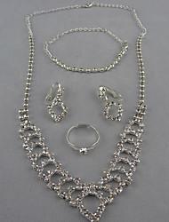 En forme de coeur de collier et boucle d'oreille (1)
