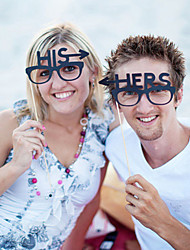 mariage décor pour elle et lui la photographie photo props- ensemble d'1 paire