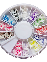 24PCS FIMO Large Size 3D Rose Nail Art Decoration