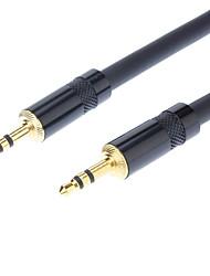 3,5 mm Stereo-Stecker auf Stecker Kabel schwarz für Sennheiser (1M)