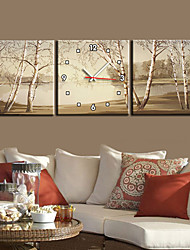 "12""-24""Country Style Tree TWall Clock In Canvas 3pcs"