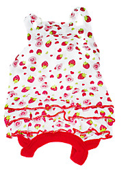 Dog Dress Red Summer Fruit