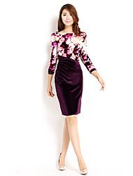 Vestido Bodycon elegante AMC Mulher