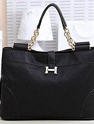 Spring Light Women's High Quality PU Tote(Black)