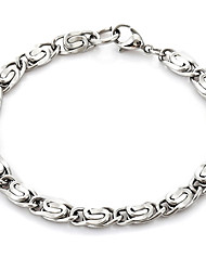 U7® NEVER FADE 316L Stainless Steel Evergleam Chunky Chains Bracelets For Men Bangles 6MM