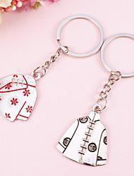 Tang Suit Shaped Key Ring-Set of  4 Pairs