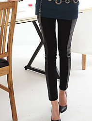 Women PU Legging , Cotton/Others