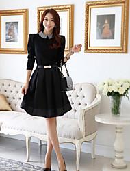 Moda Short Skirt CHAOLIU Feminino Enviar Blet Aleatório