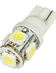 Medien T10 2W 50LM 5-SMD LED Auto White Light Bulbs - Pair (DC 12V)-LEDD004T10A5S1
