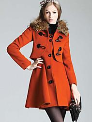 Coréenne Slim manteau de cachemire de collier de CHAOLIU femmes