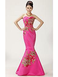 Women's Dresses , Satin Party/Work Four-Season Trees