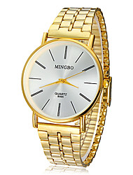 Men's Watch Dress Watch Concise Style Gold Round Dial