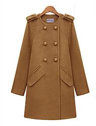 Inverno Media cappotto di tweed sorriso Donna Donna