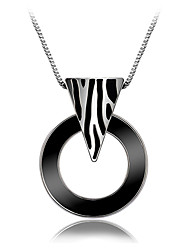 Viennois Silver geometric Sweater Necklace Chain