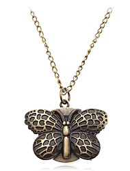Femme Quartz Bande Papillon Bronze Marque-