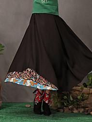ts ethnischen chinesischen Stil Stickerei Einfachheit schwingen Quaste lange Röcke
