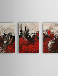 Hand Painted Oil Painting Abstract Roses with Stretched Frame Set of 3 1310-AB1219