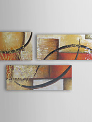 Hand-painted Oil Painting Abstract Relation  with Stretched Frame Set of 3 1311-AB1135