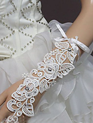 Wrist Length Fingerless Glove - Lace Bridal Gloves/Party/ Evening Gloves