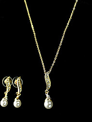 women's Pearl Jewelry Set(Necklace&Earring)