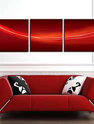 Stretched Canvas Art Abstract Red Background Set of 3