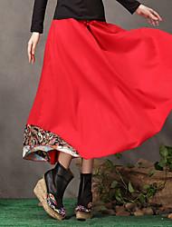 ts ethnischen chinesischen Stil Stickerei Einfachheit Quaste schwingen lange Röcke
