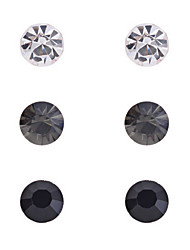Fashion Rhinestone Earrings Set-3 Pairs per Set(More Colors)