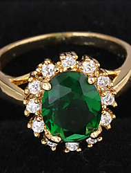 Classic Women's Green Austrian Crystal Rings (7#,8#)(1 piece)