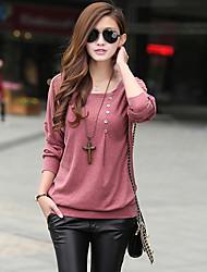Women's Casual Shirts , Cotton Casual Long Sleeve LOONGZY