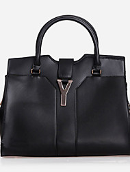 Lady Fashion Classic PU Leather Tote(Black)