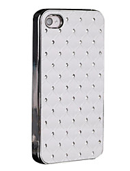 Chrome and Sticker with Diamond PC Case for iPhone 4/4S (Assorted Colors)