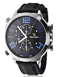 Grande Dial Silicone banda quartzo relógio de pulso analógico dos homens (cores sortidas)