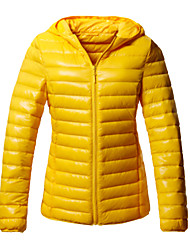 Outdoor Women's Down Jackets Snowsports Wearable / Windproof / Thermal / Warm Winter Yellow / Green / Red / Black / Blue / Purple / Orange