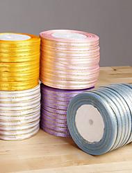 fita de cetim com fios de ouro - conjunto de 10 rolos (mais cores)