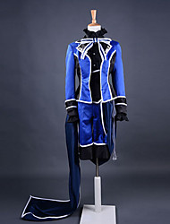 Inspired by Black Butler Ciel Phantomhive Anime Cosplay Costumes Cosplay Suits Patchwork Blue Long Sleeve Coat / Shirt / Pants / Gloves